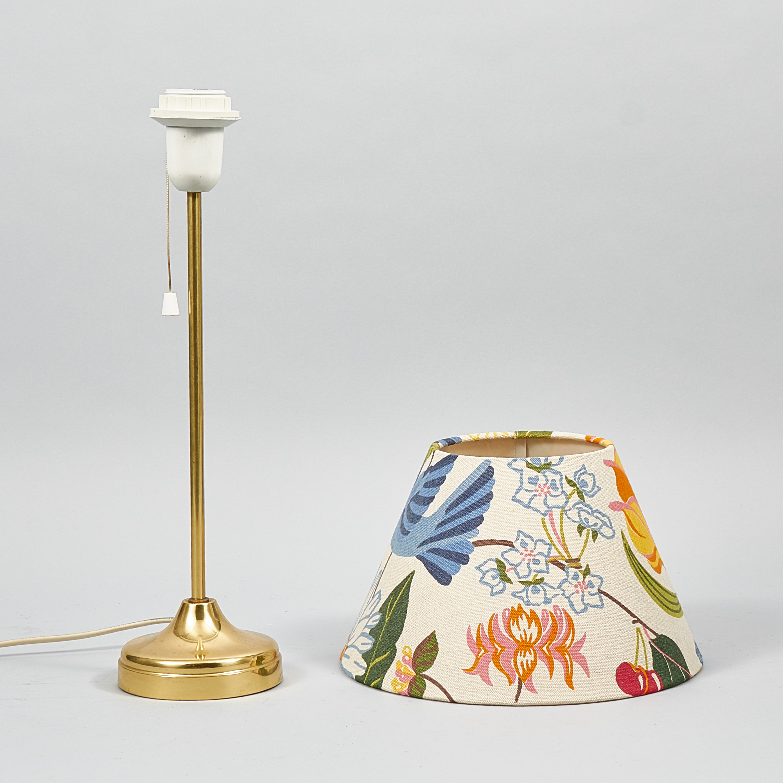 bordslampa mässing retro