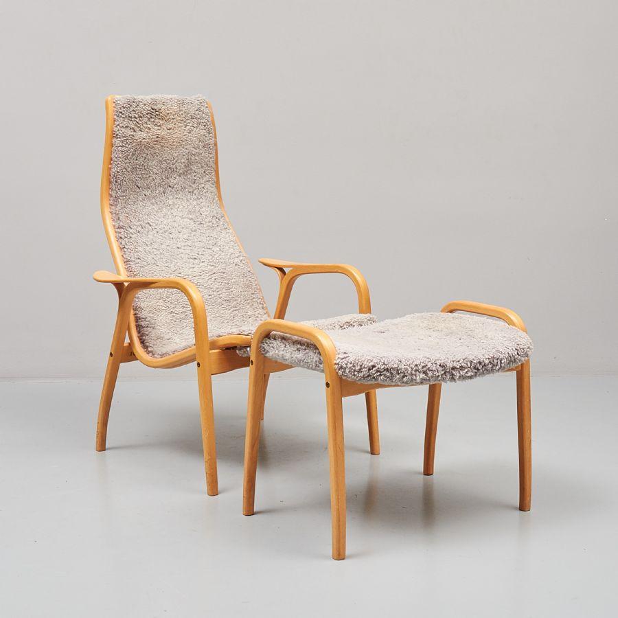 Fåtölj, Yngve Ekström (1913 1988), Lamino, Swedese Skiktlimmat och formpressat trä, brännmärkt