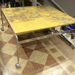 Soffbord, med karta, Glasskiva, längd: 110, djup: 85, höjd