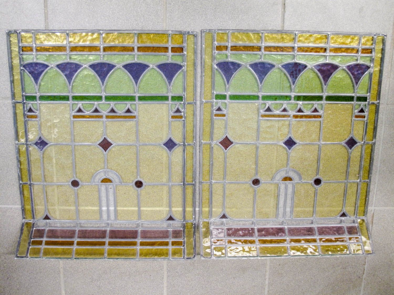 Fönster blyinfattade fönster : Blyinfattade fönster, 1 par, 60x46 - 642 3351 - Metropol Auktioner