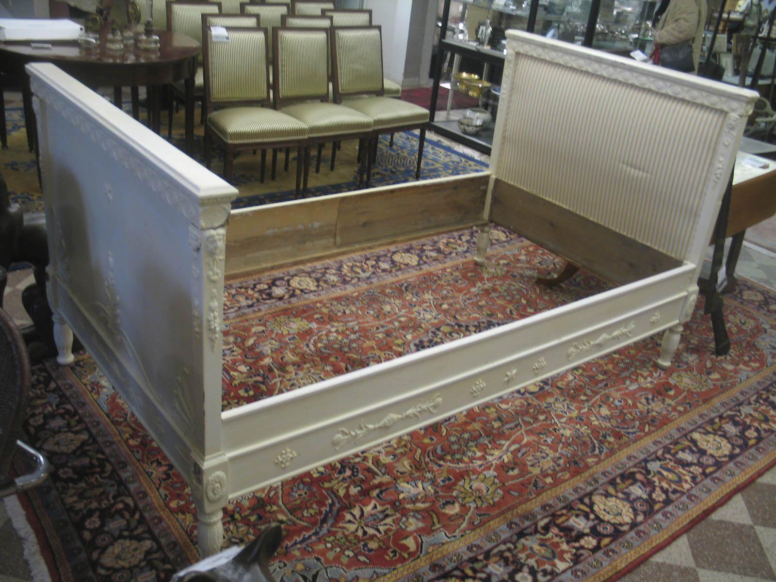 Sängram, till 105cm säng, Empirestil 488 1400 Metropol Auktioner