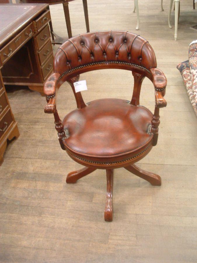 Skrivbordsstol, Engelsk stil Metropol Auktioner i Stockholm och på nätauktion med konst och